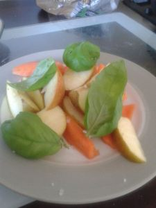 apple and basil