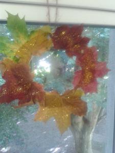 halloween leaves wreaths
